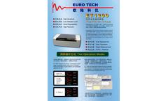 Euro Tech - Model ET1200 - Infrared Photometric Oil Analyzer - Brochure