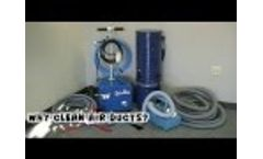 SpinVax 1000XT Air Duct & Dryer Vent Cleaning Equipment Package Video