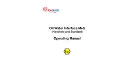 Oil Water Interface Meter (Handheld and Standard) Operating Manual