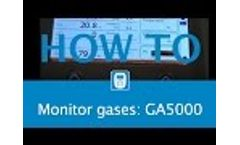 GA5000 Gas Analyser Monitoring Process After Choosing An ID - Video