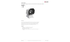 Glamox - Model HR R20 - Remote Controlled Halogen Searchlight - Datasheet