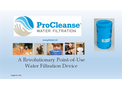 ProCleanse - Water Filtration Device Brochure