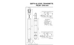 HF Jensen - Model PSLM (ø16 mm) - Level Transducers Brochure