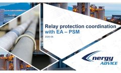 Relay protection coordination with EA-PSM