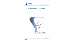 Hydrex - Hydrocone Clarifier - Brochure