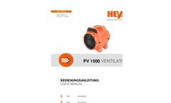 Heylo - Model PV 1500 Combi - Dust Extraction System - Datasheet