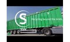 SKYLER moving floor semitrailer 100% steel - Recycling beyond the limits - For scrap and recyclables - Video