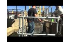 Vertical UV Disinfection Plant Service Video