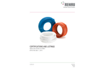 Certifications And Listings - Rehau PEX Piping Systems - Brochure