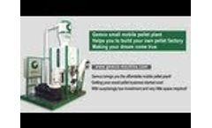 Small mobile pellet plant is to be your pellet making factory Video