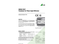SINEAX G537 Transducer for Phase Angle Difference - Data Sheet
