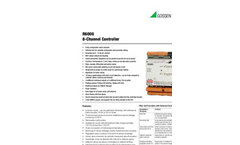 R6000 8-Channel Controller in Top-Hat Rail Housing - Technical Data