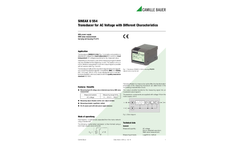 SINEAX U554 Transducer for AC Voltage with Different Characteristics - Data Sheet