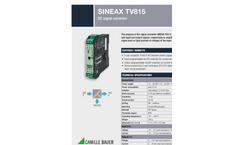 SINEAX TV815 DC-Signal Converter (Current/Voltage) - Data Sheet
