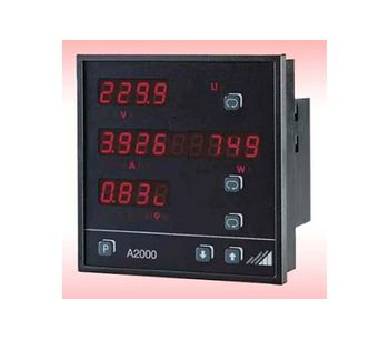 Camille Bauer - Model A2000 - Multifunctional Power Meter for 3-Phase Systems