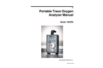 AMI - Model 1000RS - Portable Trace Oxygen Analyzers - Manual