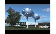 Solar Hot Water System with a Parabolic Concentrator Video