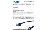 AKCP - Model THS01 or THS00 - Single Port Temperature and Humidity Sensor Brochure