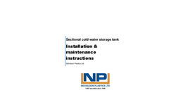 Sectional Water Tanks Manual