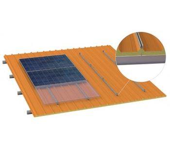 Aerocompact - Model TS-Rail - Sandwich Roof Fixation on Steel Purlins
