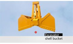 Beiyi - Model BY500 - Excavator attachments supplier produce Sheel bucket for Excavator