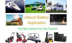 Lifepo4 battery Application