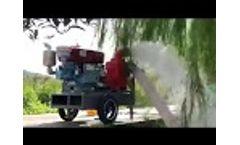 Jushi single cylinder diesel engine self priming pump Video