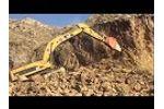 Use hydraulic ripper in mining work