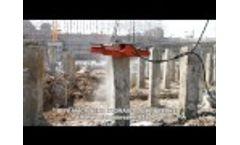 Hydraulic concrete breaker pile cutter BYS500S pile head cutter