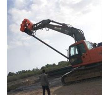 Highway Guardrail Used Hydraulic Drop Hammer Ground Screw Mini Sheet Post Ramming Pile Driver Machine-3
