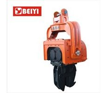 Highway Guardrail Used Hydraulic Drop Hammer Ground Screw Mini Sheet Post Ramming Pile Driver Machine-1