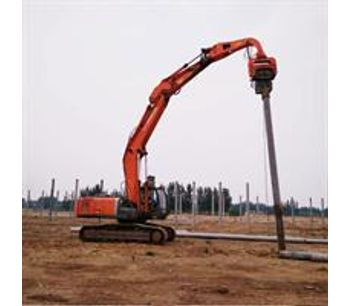 Highway Guardrail Used Hydraulic Drop Hammer Ground Screw Mini Sheet Post Ramming Pile Driver Machine-2