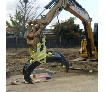 Demolition heavy duty wood grab hydraulic excavator rotating grapple-3