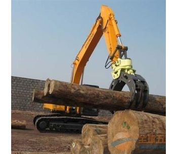 Demolition heavy duty wood grab hydraulic excavator rotating grapple-2