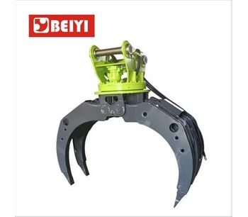 Demolition heavy duty wood grab hydraulic excavator rotating grapple-1