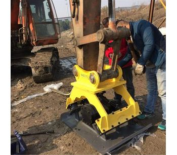 Construction excavator hydraulic vibrating plate compactor for sale with hydraulic power-3