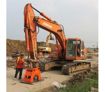 Construction excavator hydraulic vibrating plate compactor for sale with hydraulic power-4