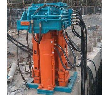 Construction Site Crane Used Sheet Pile Pulling Machine-4