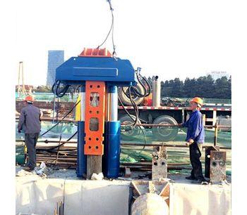 Construction Site Crane Used Sheet Pile Pulling Machine-2