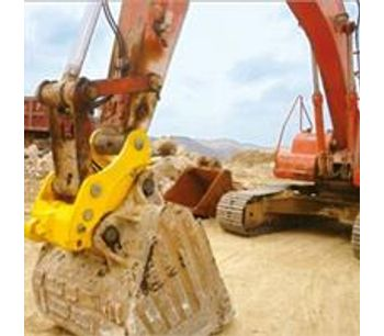 Hydraulic tilting quick hitch for excavator-2