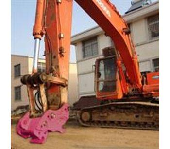 Lydite - Model BYLK50 - Hydraulic tilting quick hitch for excavator