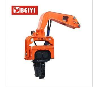 hydraulic vibrotary hammer pile driver vibro hammer sheet pile machine-1