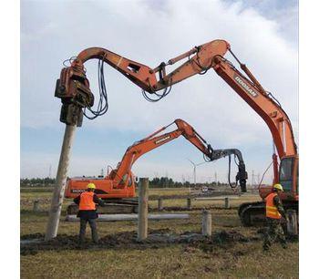 hydraulic vibrotary hammer pile driver vibro hammer sheet pile machine-2