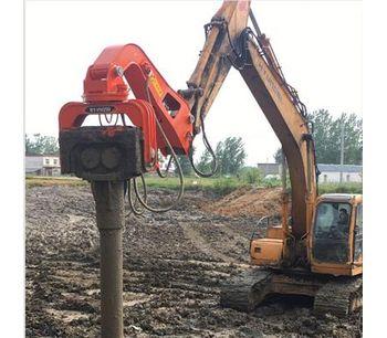 hydraulic vibrotary hammer pile driver vibro hammer sheet pile machine-3