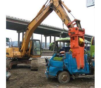 Excavator hydraulic metal cutting shear for cutting aluminum-2