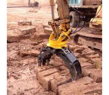 Demolition heavy duty wood grab hydraulic excavator rotating grapple-3