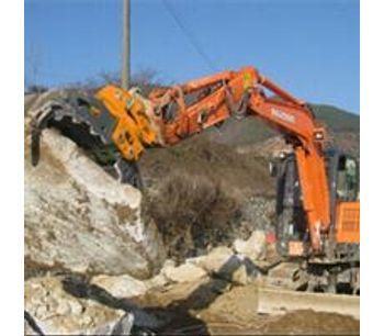 Demolition heavy duty wood grab hydraulic excavator rotating grapple-2