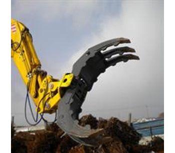 Demolition heavy duty wood grab hydraulic excavator rotating grapple-4