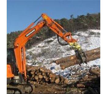 Demolition heavy duty wood grab hydraulic excavator rotating grapple-1