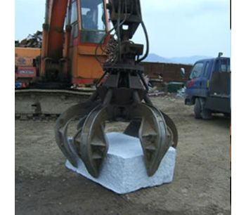 BEIYI 1500H high quality 4 teeth hydraulic rotating grapple fit for 20T excavator-4